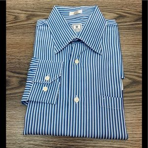 Peter Millar Blue, White & Navy Stripe Shirt M
